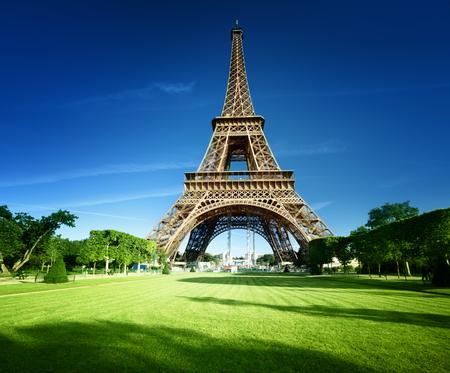 파리, 프랑스의 에펠 탑 스톡 콘텐츠