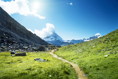 ground way to Matterhorn peak, Switzerland