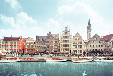 old town of Ghent, Belgium Stock Photo - 89489573