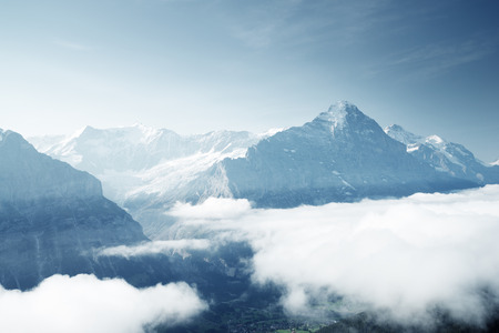 Grindelwald valley from the top of First mountain, Switzerland