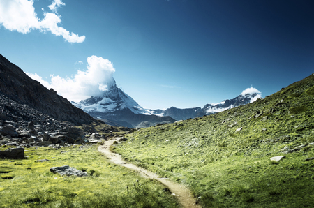 ground way to Matterhorn peak, Switzerland