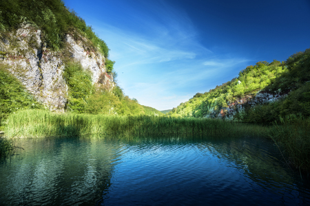 lake in forest of Croatia, Plitvice