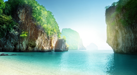 beach of small island, Krabi province, Thailand