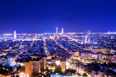 Skyline di Barcellona, Spagna Archivio Fotografico - 94616781