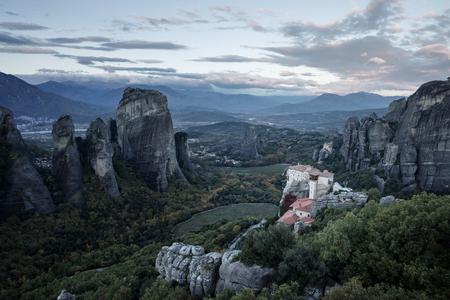 Meteora monasteries in Greece Standard-Bild