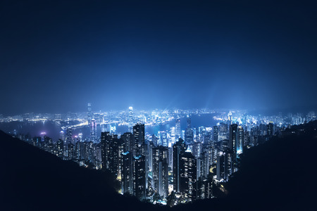 Hong kong from the Victoria peak Stock Photo - 96288966