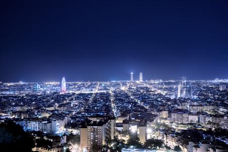 Barcelona skyline, Spain Archivio Fotografico - 96278988