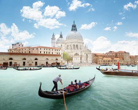 Grand Canal and Basilica Santa Maria della Salute, Venice, Italy Editorial