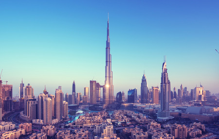 Dubai skyline, United Arab Emirates Standard-Bild