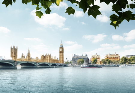 Big Ben and Houses of Parliament, London, UK Banco de Imagens