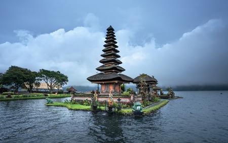 Ulun Danu Beratan Temple and Beratan Lake, Bali, Indonesia Stock Photo
