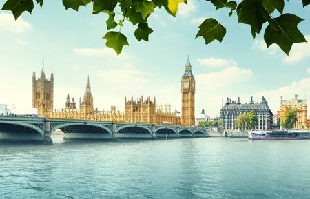 Big Ben and Houses of Parliament, London, UK 版權商用圖片