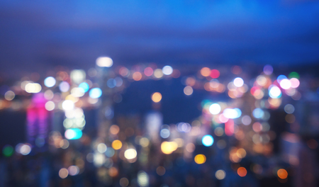 blurred lights from peak Victoria, Hong Kong