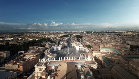 Saint Peters Square in Vatican