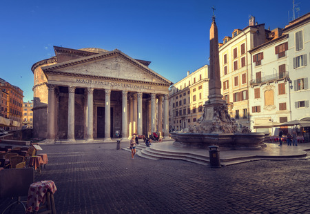 Pantheon in Rome, Italy Reklamní fotografie - 108902846