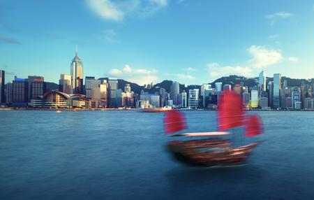 Hong Kong harbour, long exposition