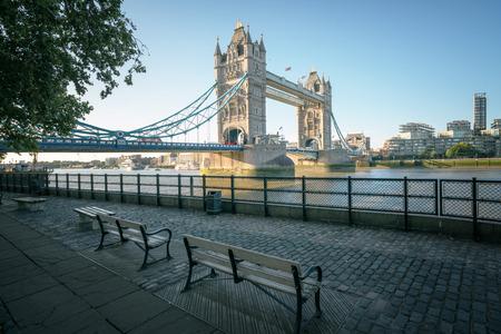 tower bridge in sunny morning London, UK Redakční