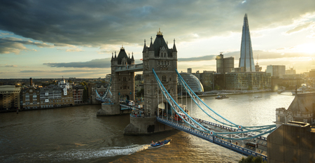 Tower Bridge in London, UK Stock Photo - 124897574