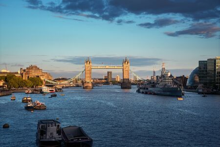 Tower Bridge at sunset, London, UK Archivio Fotografico
