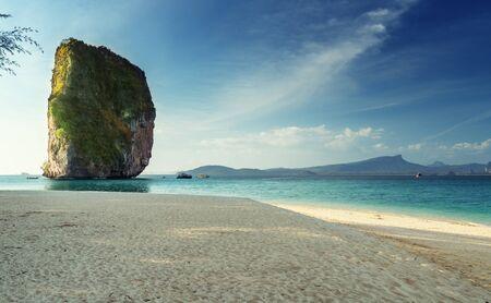 beach of Koh Poda island in Krabi province, Thailand Stock Photo