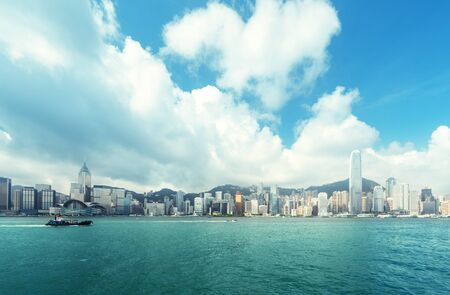 Hong Kong harbour, perfect day