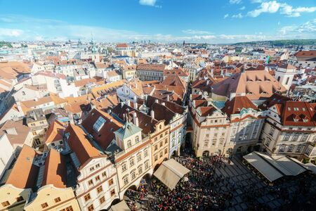 roofs in Prague Old Town Square, the Czech Republic Standard-Bild