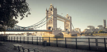 tower bridge in sunny morning London, UK Stock Photo