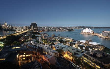 Aerial view of Sydney with Harbor Bridge, Australia