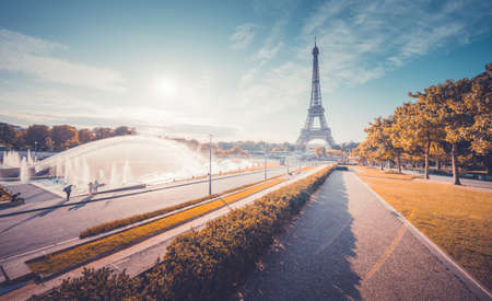 sunny morning, Paris, France