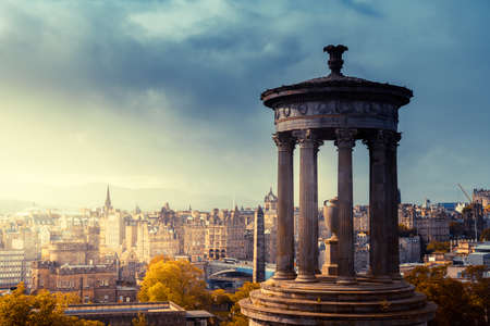 Edinburgh city skyline from Calton Hill., United Kingdom 写真素材 - 155318103