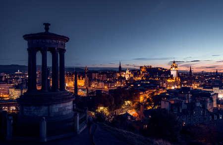 Edinburgh city skyline from Calton Hill., United Kingdom 写真素材 - 155318239