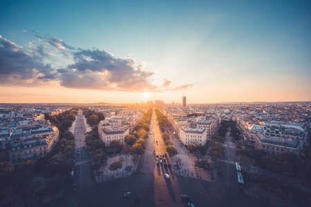 Paris view from Arc de Trimphe, France 写真素材 - 155740326