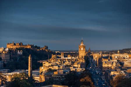 Edinburgh city skyline from Calton Hill., United Kingdom 写真素材 - 155740329