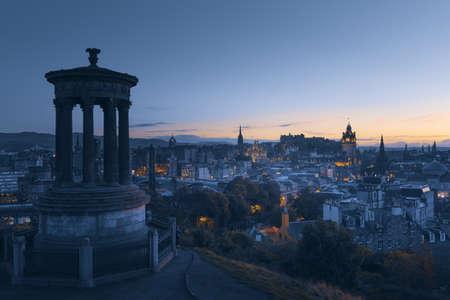 Edinburgh city skyline from Calton Hill., United Kingdom 写真素材 - 155740337