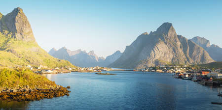 Reine Village, Lofoten Islands, Norway 写真素材 - 155740342