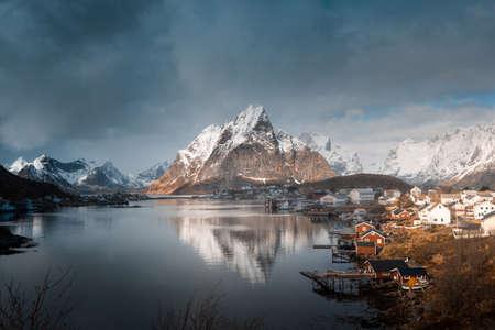 spring in Reine Village, Lofoten Islands, Norway