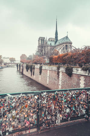 Notre Dame cathedral in Paris, France 写真素材 - 155740537