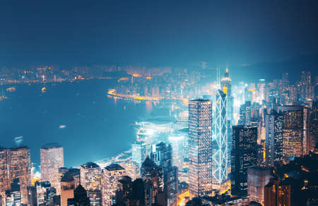 Hong kong from the Victoria peak 写真素材 - 155743120