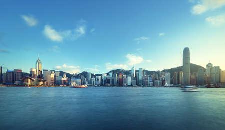 Hong Kong harbor, long exposition