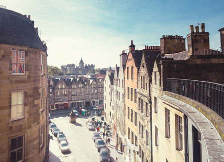 Edinburgh Victoria street, old town of Edinburgh. Scotland UK 写真素材