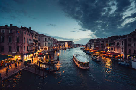 Grand Canal in sunset time, Venice, Italy 写真素材
