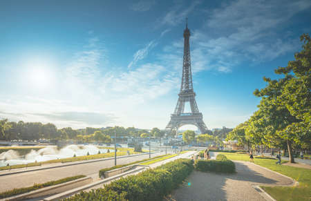 sunny morning, Paris, France