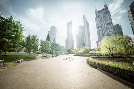 Green Space, Lujiazui Central, Shanghai, China 写真素材