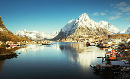 spring in Reine Village, Lofoten Islands, Norway