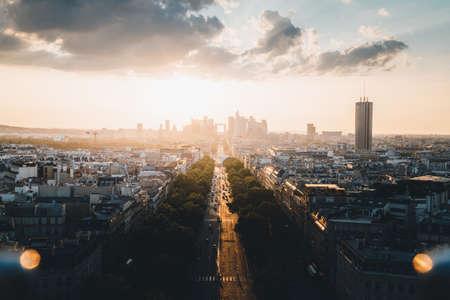 Paris view from Arc de Trimphe, France