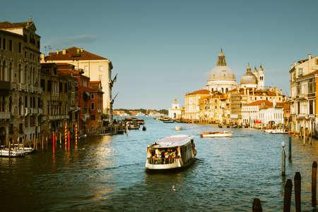 Grand Canal and Basilica Santa Maria della Salute, Venice, Italy Reklamní fotografie