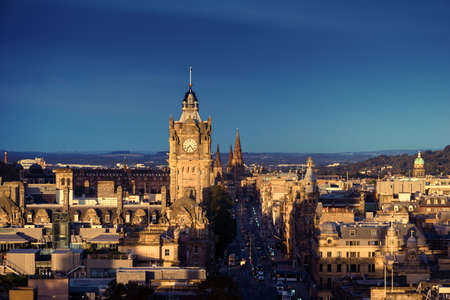 Edinburgh city skyline from Calton Hill., United Kingdom Reklamní fotografie - 167348803