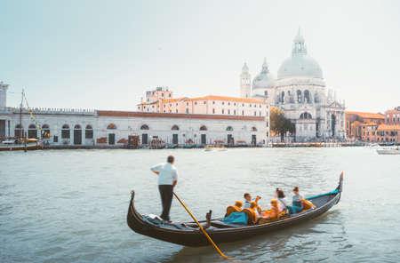 Gondola and Basilica Santa Maria della Salute, Venice, Italy Reklamní fotografie