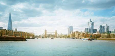 Panoramic view of London skyline, UK