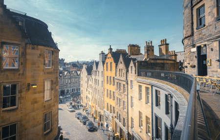 Edinburgh Victoria street, old town of Edinburgh. Scotland UK Reklamní fotografie
